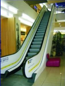 publicitate pe scari rulante mall