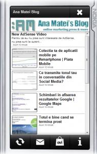 AnaMatei'sBlog-Aplicatie OVI -Nokia