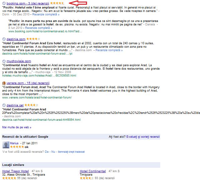 recomandari google