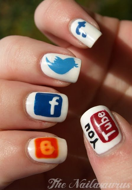 social networks on nails