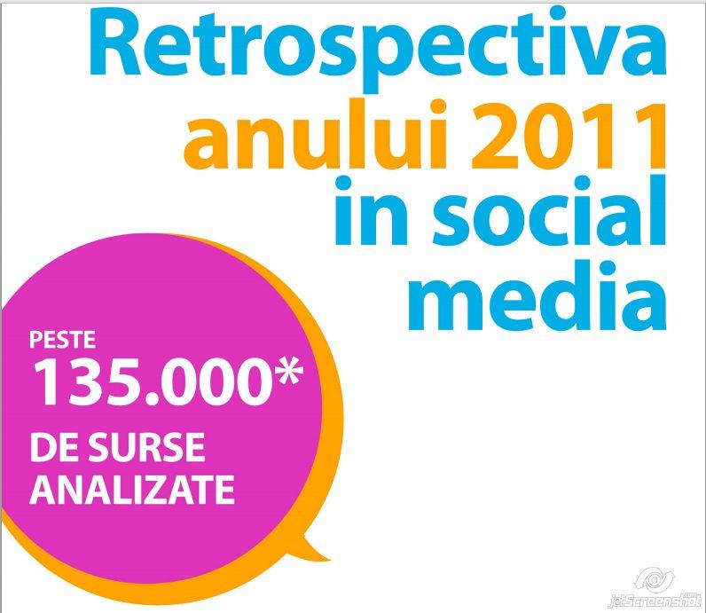 Retrospectiva anului 2011 in Social Media Romania
