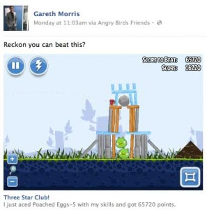 Facebook Games in News Feed