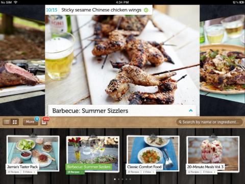 ipad app retete culinare Jamie Oliver