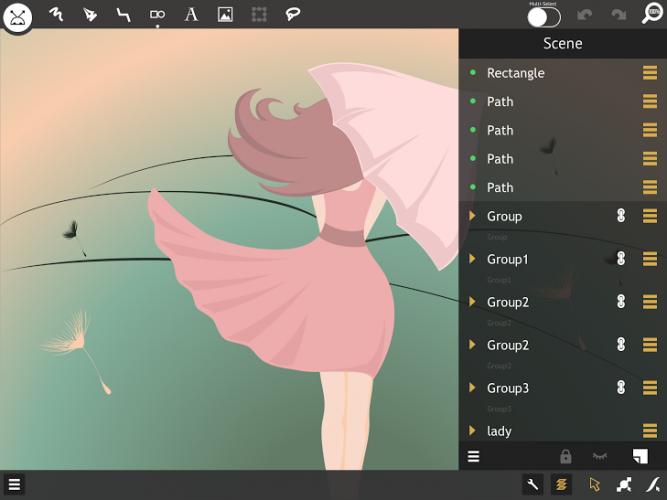 miniDraw 2 - ilustratie - app - grafica vectoriala