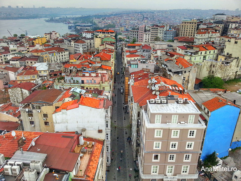vedere din Turnul Galata - Istanbul