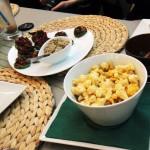 conopida gratinata cu sos cheese- bruschete dovlecei si parmezan din nuci braziliene