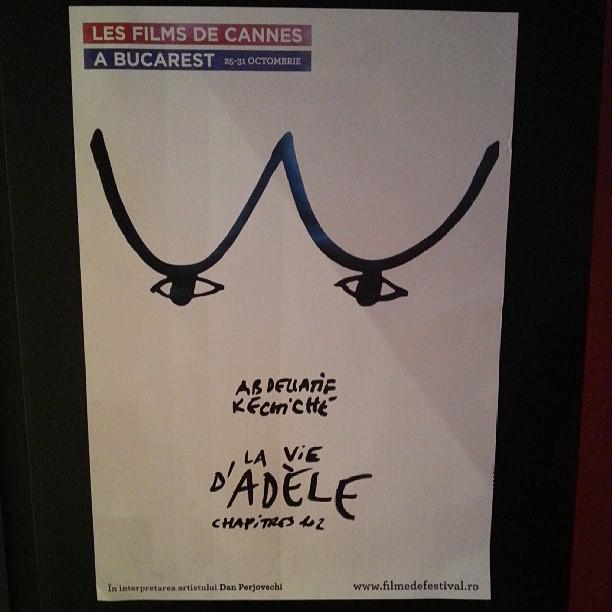 poster Adele pentru Les Films de Cannes a Bucarest 2013, realizat de Dan Perjovschi