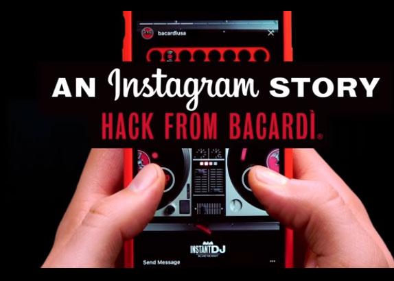 campanie-instagram-story-bacardi-instant-dj-hack
